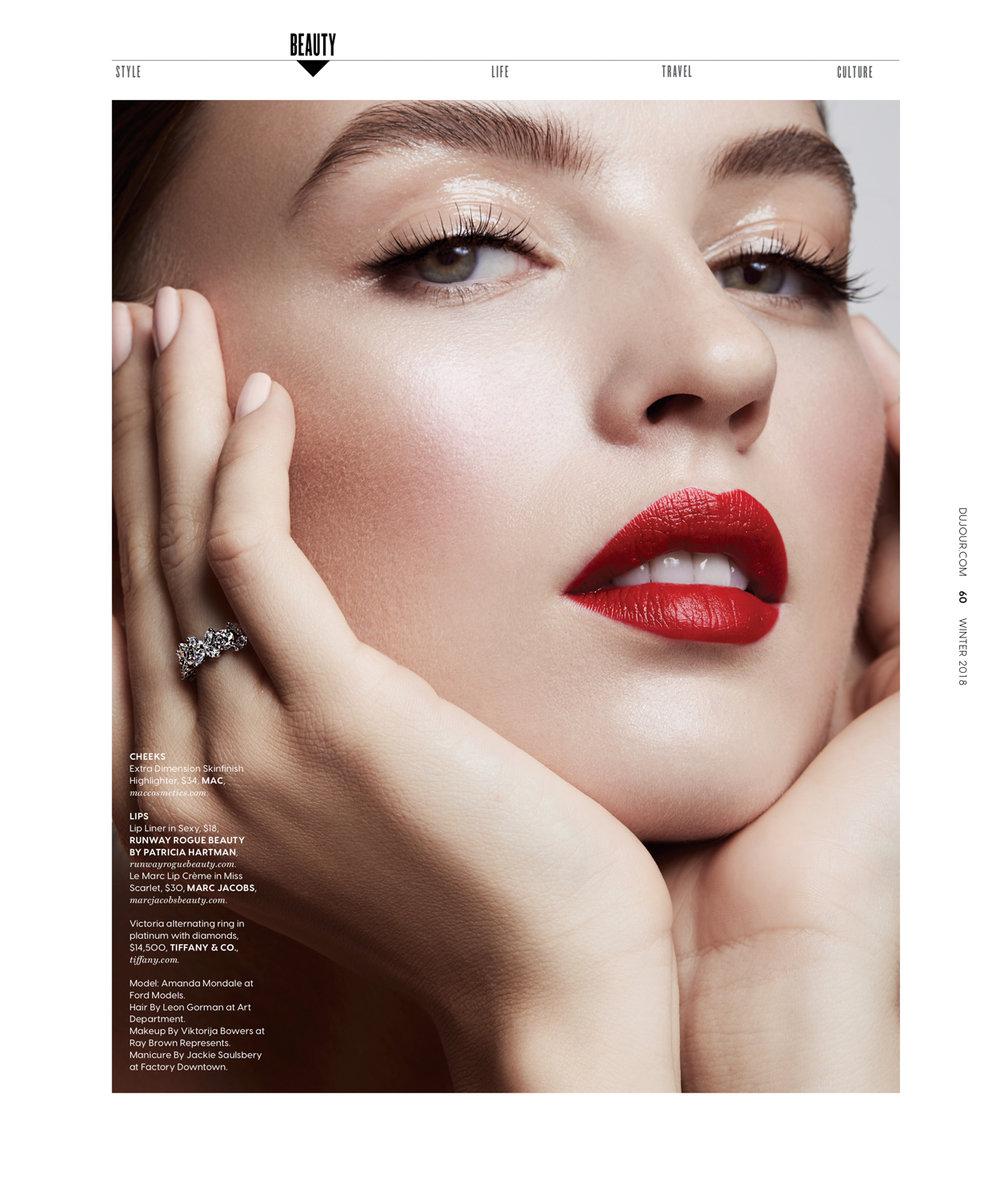 amanda mondale dujour magazine beauty