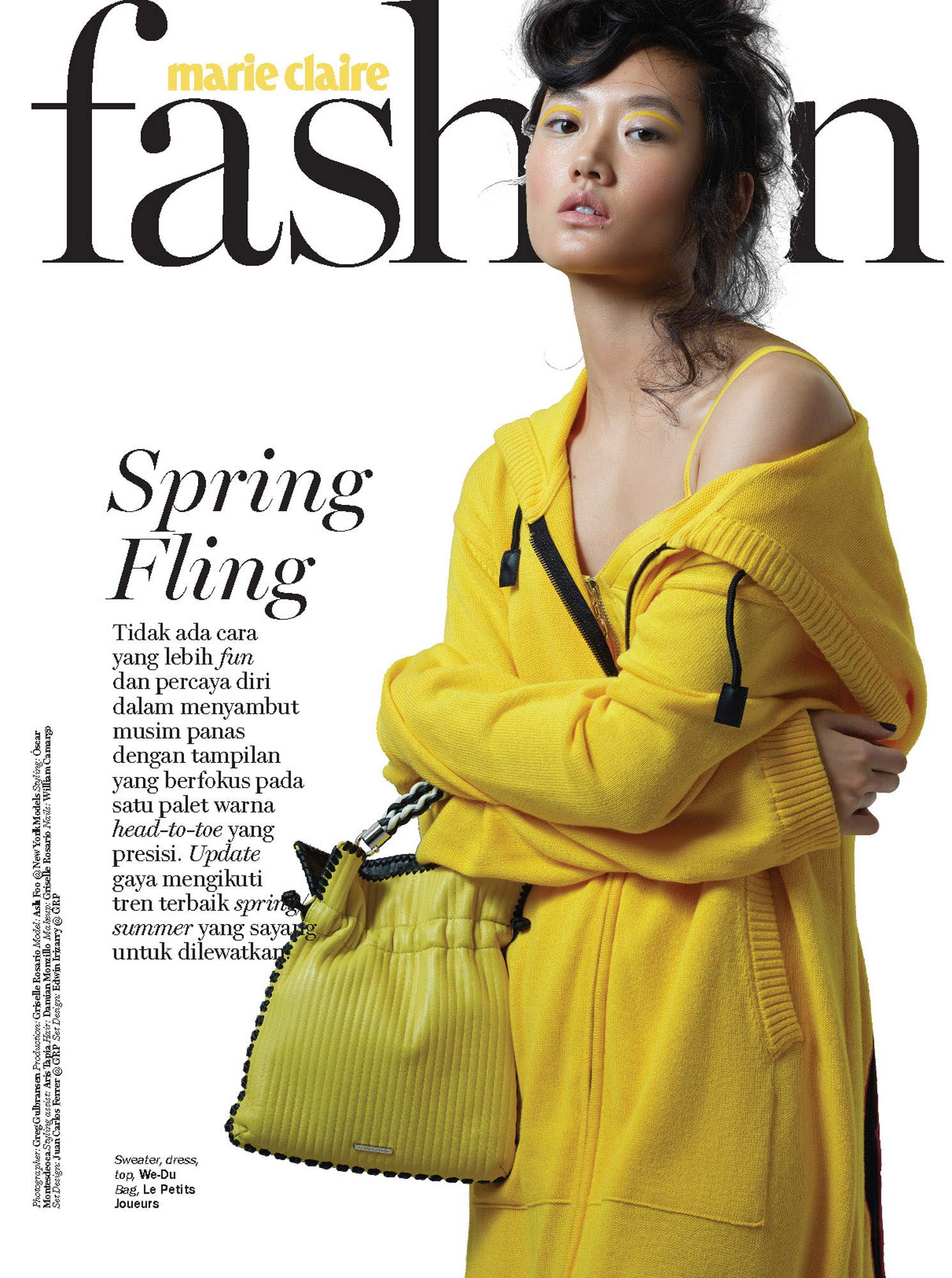 Ash Foo Marie Claire Indonesia Magazine