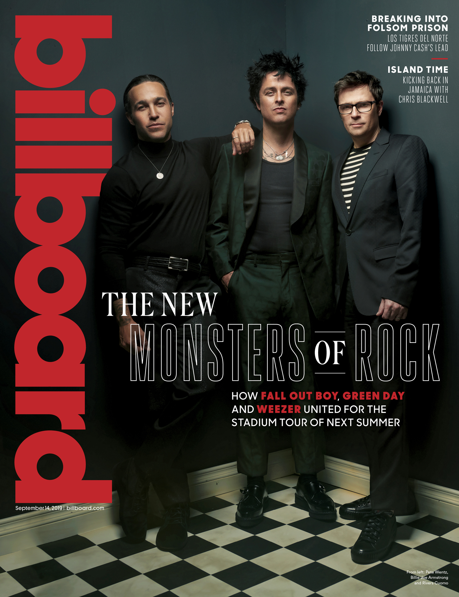Pete Wentz, Billie Joe Armstrong, Rivers Cuomo, Billboard Magazine