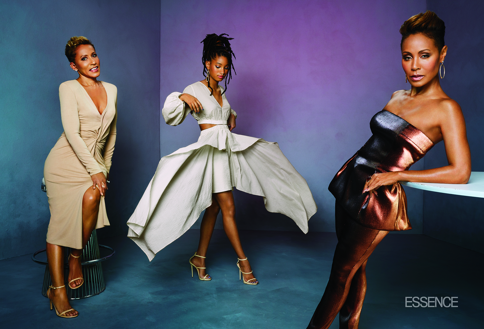 Jada Pinket Smith, Willow Smith, Adrienne Banfield-Norris, Essence Magazine