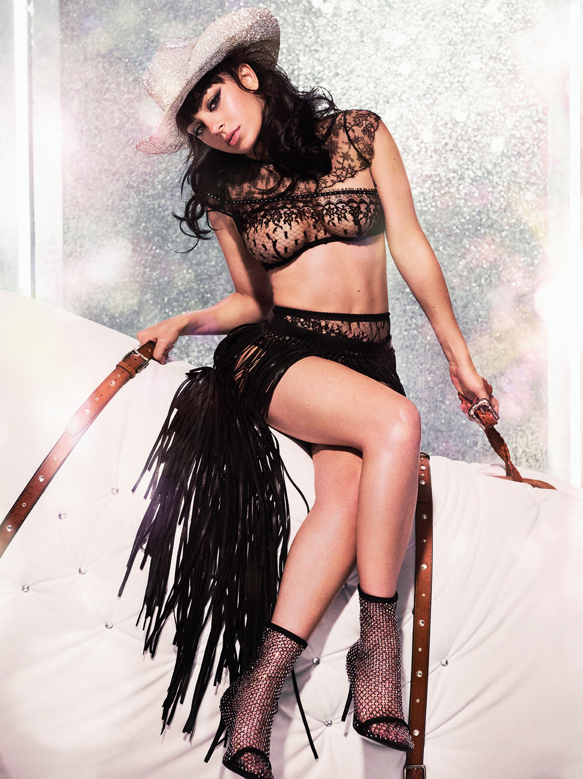 Saddle Up Santa Charli XCX Agent Provocateur Kimmie Kyees